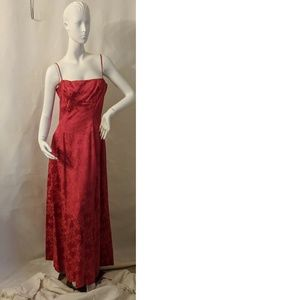 Vintage 1960's Red Gown British Crown Colony